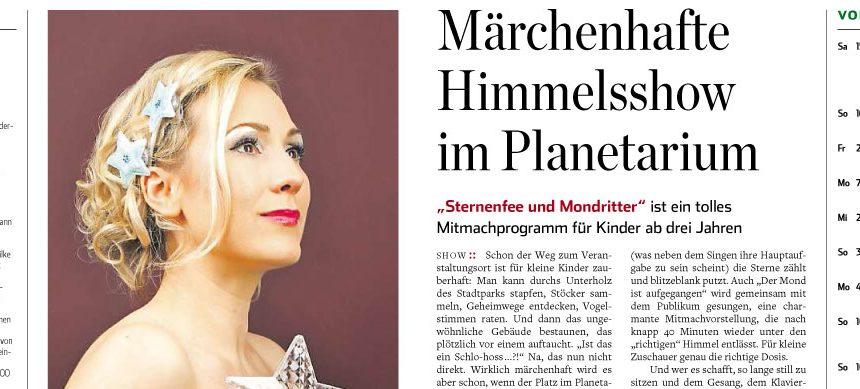 Die Sternenfee und der Mondritter im Hamburger Abendblatt
